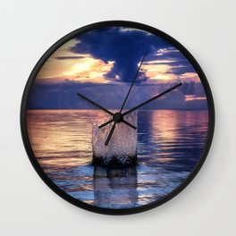 Sunset Splash Wall Clock
