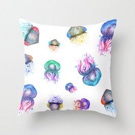 Galaxy Jellyfish Throw Pillow