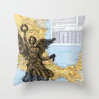 mexico Throw Pillows featuring Mexico  by Ursula Rodgers