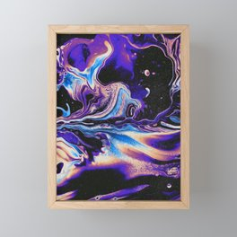 IT TOOK THE LIGHT FOREVER TO GET TO YOUR EYES Framed Mini Art Print