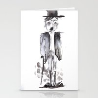chaplin Stationery Cards featuring CHAPLIN by Halley's Coma