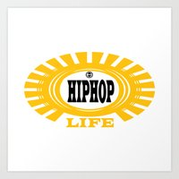 hiphop Art Prints featuring HIPHOP by Robleedesigns