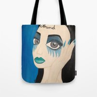 sound Tote Bags featuring Sound by Monika Safirowska