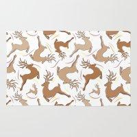 reindeer Area & Throw Rugs featuring Reindeer! by Vinicius Meneghin
