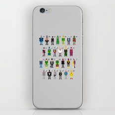 Pixel Supervillain Alphabet iPhone & iPod Skin