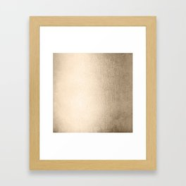 White Gold Sands Framed Art Print