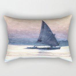 Felucca Water Colour Rectangular Pillow
