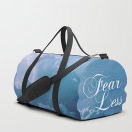 Fearless in a beautiful cloudy sky Duffle Bag