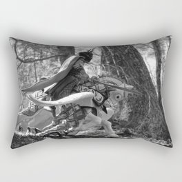 Knight riding through the forest Rectangular Pillow