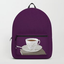 Teacup and Jane Austen Books Backpack