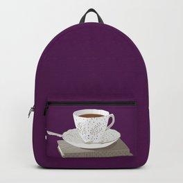 Teacup, Jane Austen, & Charlotte Brontë Books Backpack