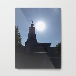 Sunshine on the San Antonio LDS Temple  Metal Print