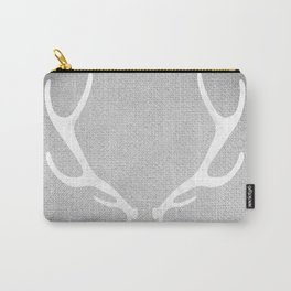 White & Grey Antlers Carry-All Pouch