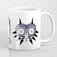 the legend of zelda Mugs featuring Zelda legend - Majora's mask by Art & Be