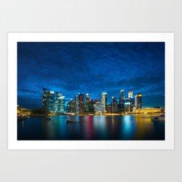 Singapore #society6 #decor #buyart Art Print