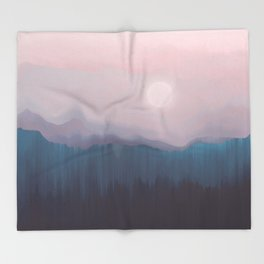 Pink Fog Throw Blanket