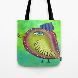 Quirky Bird 4 Tote Bag