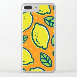 Lemonade Pattern Clear iPhone Case