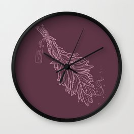 Burn sage, not our sisters (in pink) Wall Clock