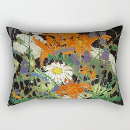 Tom Thomson - Marguerites, Wood Lillies and Vetch - Canada, Canadian Oil Painting - Group of Seven Rectangular Pillow