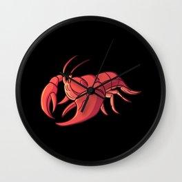 Wetland animals crayfish everglade animal Wall Clock