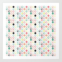Brain Dots Art Print