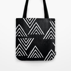 The Mountain Top - in Black Tote Bag