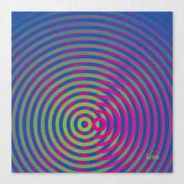 SoundWaves Lime/Magenta Canvas Print