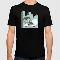 Scooter Boy MEDIUM Black Mens Fitted Tee