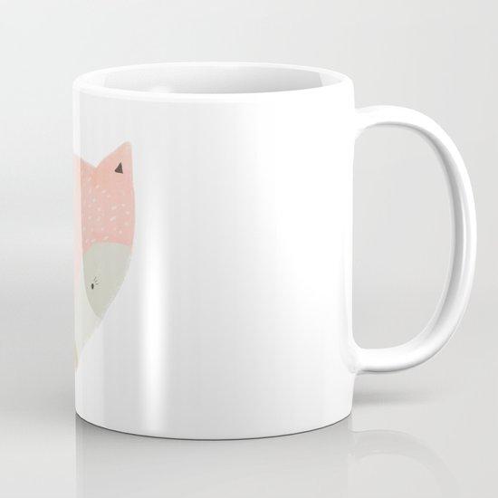pink fox Mug