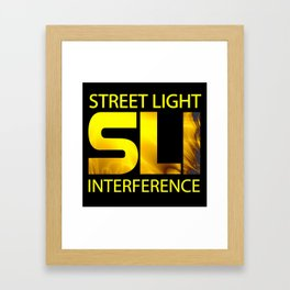 Street Light Interference Framed Art Print