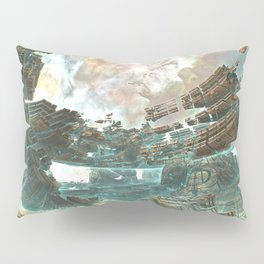 Aqua Space Shipyard Pillow Sham