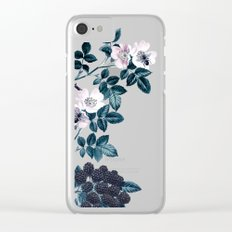 Night Garden Bees Wild Blackberry Clear iPhone Case