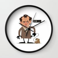 phil jones Wall Clocks featuring Phil by The Drawbridge