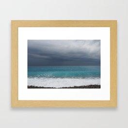 Topaz sea Framed Art Print