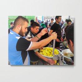Iraqis working food in Karbala Metal Print