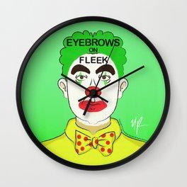 Eyebrows on Fleek Wall Clock