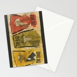 The Good The Bad The Ugly Cats Stationery Cards