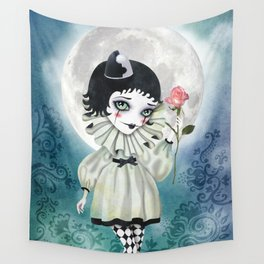 Pierrette Under the Icy Moon Wall Tapestry