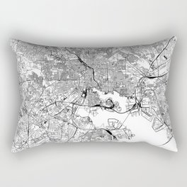 Baltimore White Map Rectangular Pillow