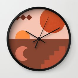 Abstraction_SUN_MOON_ARCHITECTURE_Minimalism_001 Wall Clock