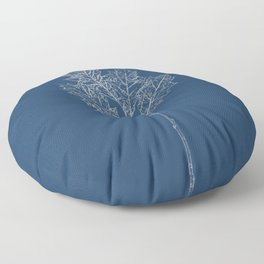 English Oak Blueprint Floor Pillow