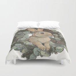 winter rabbit Duvet Cover