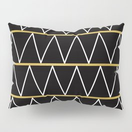 Black and gold zigzag Pillow Sham