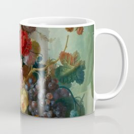 """Jan van Os """"Fruit and Flowers in a Terracotta Vase"""" Coffee Mug"""
