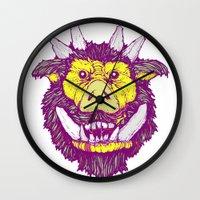 ed sheeran Wall Clocks featuring Boar-ed by headnhalf