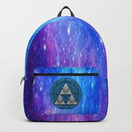 Triforce Circle With Blue Nebula Backpack