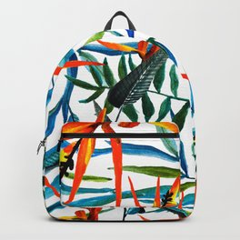 Exotic nature and flowers Backpack