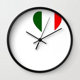 Italy love Wall Clock