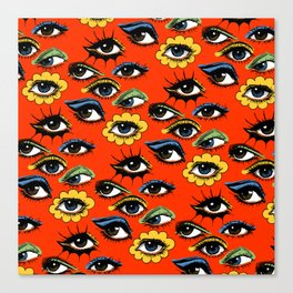 60s Eye Pattern Canvas Print